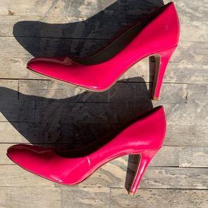 Nine West Neon Pink Heels Size 8 1/2